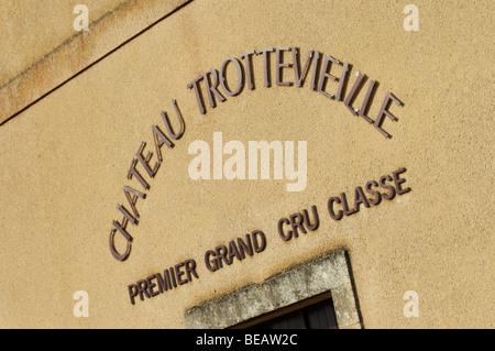 the winery chateau trottevieille saint emilion bordeaux france - Stock Image