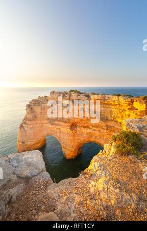 Praia da Marinha, Algarve, Portugal. Seascape and heart shaped rocks - Stock Image