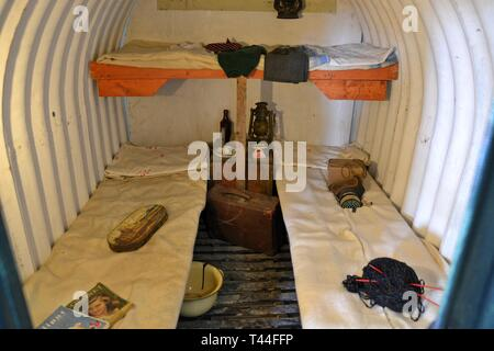Debach Airfield Museum, 493rd Bomb Group, Suffolk, UK. Home of Helton's Hellcats Station 152 USAAF 1944-45 occupied by the American 8th Army Air Force - Stock Image