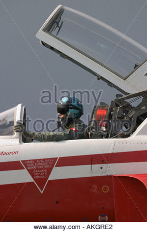 Rivolto Italia Air show 2005 Northrop F 5 Tiger Swiss Air Force aerobatic team - Stock Image