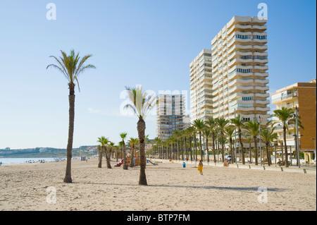 Beach, Benidorm, Costa Blanca, Spain - Stock Image
