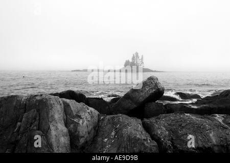 Island fog - Stock Image