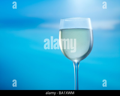 Glass of white wine 39MP capture - Stock Image