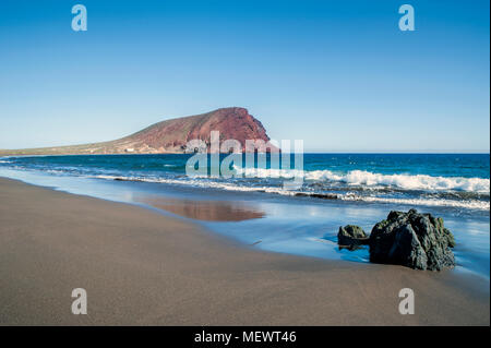 View of Montana Roja in a sunny day in Tenerife, Canary Islands - Stock Image