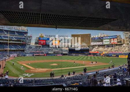 Yankees x Rockies 2014 Baseball New York City - Stock Image