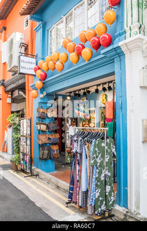 Singapore - 22nd December 2018: Amsterdam themed cafe on Haji Lane. This is in the Kampong Glam area - Stock Image