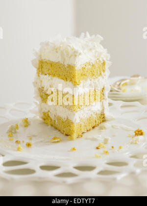 Coconut Cream Cake - Stock Image