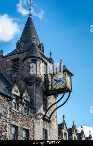 The Old Tolbooth building, High Street, Royal Mile, Edinburgh, Scotland, UK - Stock Image