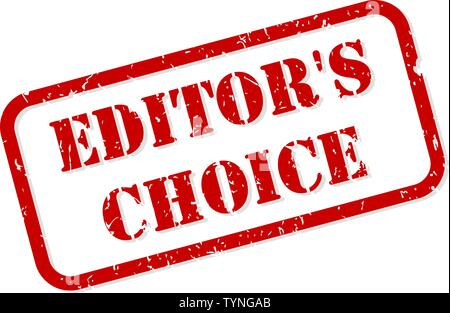Editors choice red rubber stamp vector isolated - Stock Image