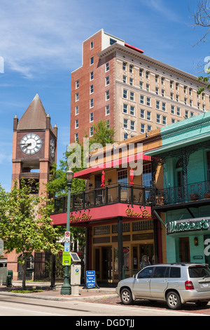 Market Square Louis and Annie Friedman Clock Tower Houston Historic District - Stock Image