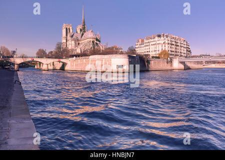 Cathedral of Notre Dame de Paris, France - Stock Image