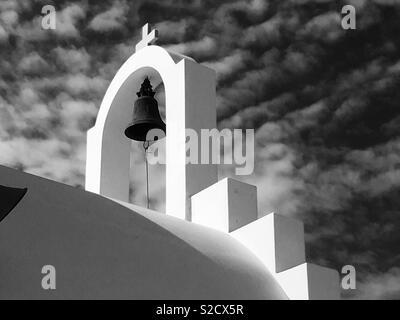 Bell on church, Greek islands - Stock Image