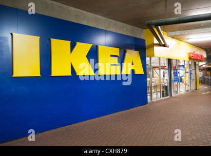 Ikea entrance in the UK - Stock Image