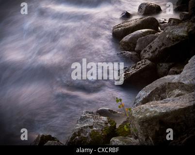 River long exposure - Stock Image