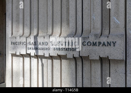 Pacific Gas and Electric Company, Folsom Street, San Francisco, California, USA - Stock Image