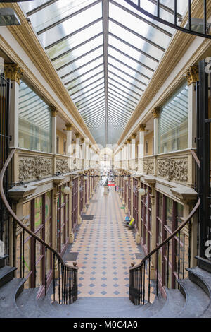 Passage Balthus, a shopping arcade in Autun, Saone-et-Loire, Bourgogne, France - Stock Image