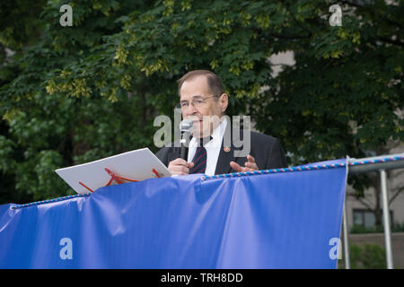Congressman Jerrold Nadler (D-NY) represents New York's 10th Congressional District and chairs the House of Representatives Judiciary Committee. - Stock Image