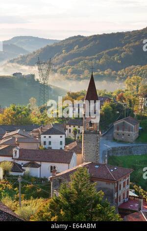 Rolle village, Veneto, Italy - Stock Image