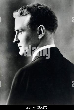 Portrait of author F. Scott Fitzgerald, ca 1930 - Stock Image