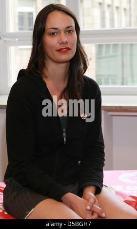 Tanya Buziak of Wakey!Wakey! during a promotional visit to radio station Radio Hamburg. Hamburg, Germany - Stock Image
