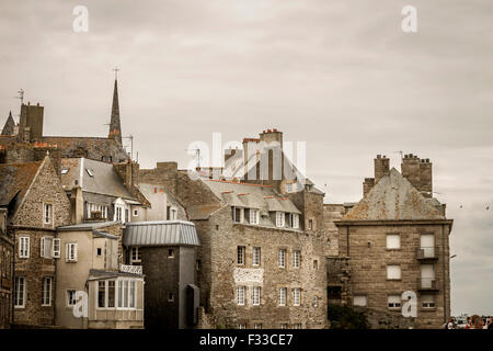 Old town, Saint Malo, Brittany, France, Europe. - Stock Image