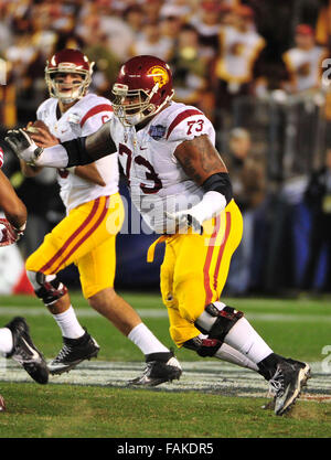 December 19, 2015. Zach Banner #73 of USC in action during the 2015 National Education Holiday Bowl between the - Stock Image