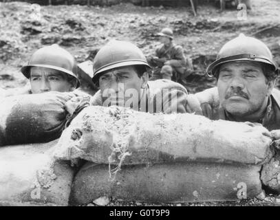 Vittorio Gassman, Alberto Sordi and Folco Lulli / The Great War / 1959 directed by Mario Monicelli (Cinematografica - Stock Image