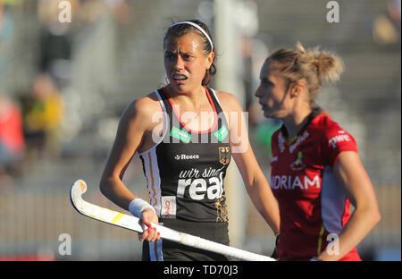 Krefeld, Germany, June 12 2019, Hockey, FIH Pro League, women, Germany vs. Belgium: Selin Oruz (Germany) looks on. - Stock Image