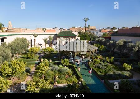 The Secret Garden Marrakech, aka Le Jardin Secret, garden museum, Marrakesh medina, Marrakech Morocco North Africa - Stock Image