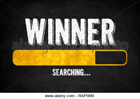 Winner Congratulations searching concept - Stock Image