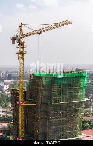 Central Bank of Kenya CBK Pension House building under construction, Nairobi, Kenya - Stock Image