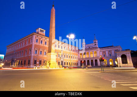 Piazza di San Giovanni in Laterano in Rome evening view, eternal city and capital of Italy - Stock Image