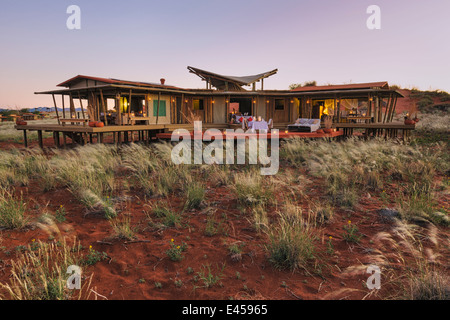 Mountain view suite.Dunes Lodge.Wolwedans NamibRand Nature Reserve, Namibia - Stock Image