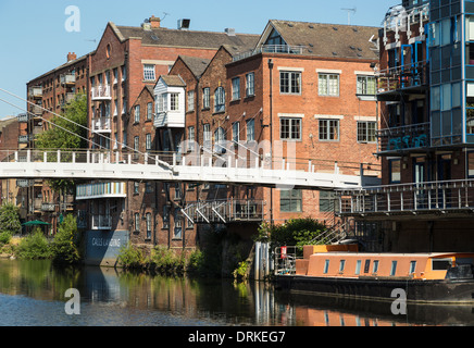 Centenary Bridge River Aire at The Calls, Leeds, England - Stock Image