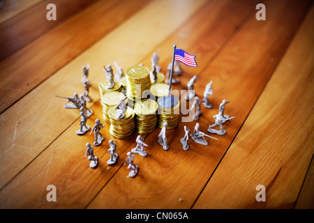 Federal reserve: Protect the gold - Stock Image