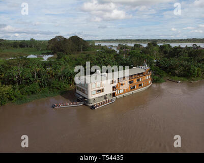 Aerial view of the Ucayali River - Stock Image
