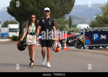 Marseille, France. 21st Jun 2019. FIA Formula 1 Grand Prix of France, practice sessions; Aston Martin Red Bull Racing, Pierre Gasly Credit: Action Plus Sports Images/Alamy Live News - Stock Image