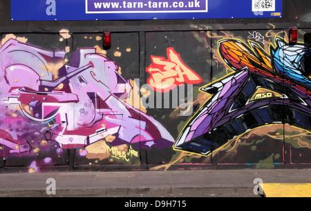 Graffiti at Brick Lane London June 2013 - Stock Image