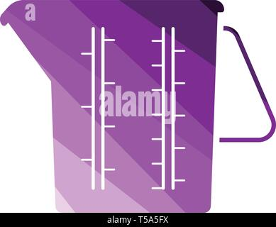 Measure glass icon. Flat color design. Vector illustration. - Stock Image