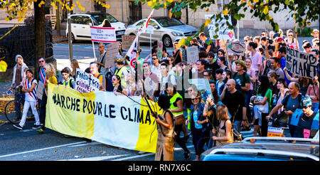 October 2018, Strasbourg, Alsace, France, protest march against the climate global warming - Stock Image