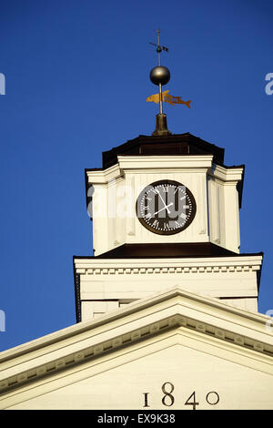 Cupola, clock and weather vane, Old Court House Civil War Museum, Old Town pedestrian mall, Winchester, Virginia - Stock Image