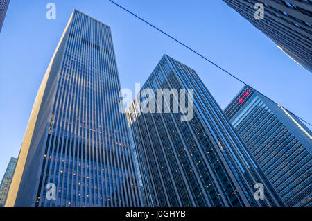 6th Ave UBS Financial Services New York City (NYC), Skyscraper - Stock Image