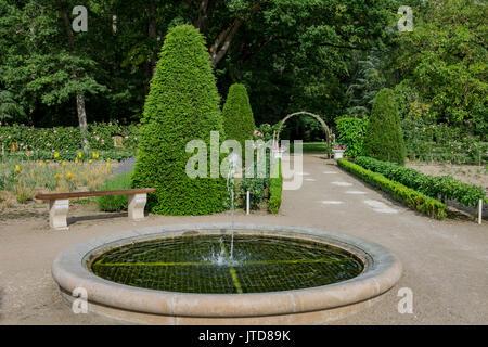 Fountain Garden Chenonceau Castle Loire Valley France - Stock Image