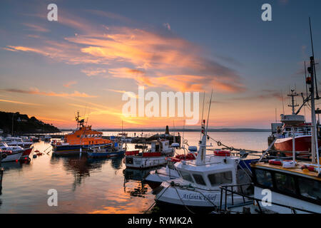 Ballycotton Harbour in County Cork. Ireland - Stock Image
