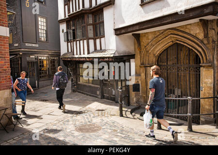 UK, England, Bristol, Lewins Mead, old buildings at base of Christmas Steps - Stock Image