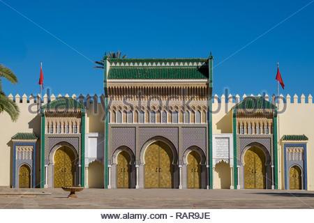 Palau Reial de Fes, Morocco - Stock Image