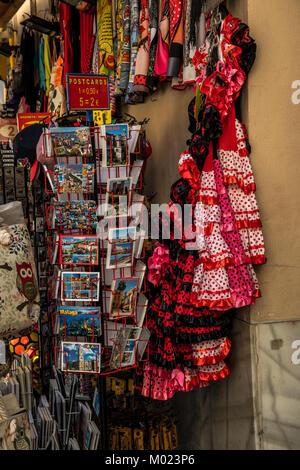 MALAGA, ANDALUSIA / SPAIN - OCTOBER 05 2017: STREET SOUVENIRS - Stock Image