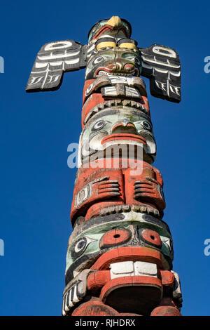 Totem_Victoria museum - Stock Image