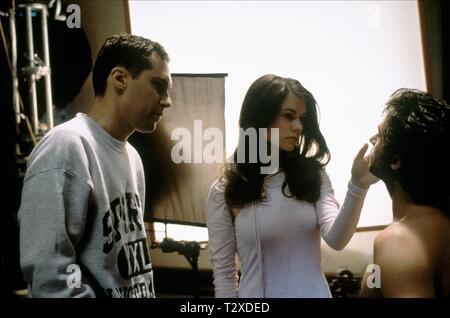 BRYAN SINGER, ANNA PAQUIN, HUGH JACKMAN, X-MEN, 2000 - Stock Image