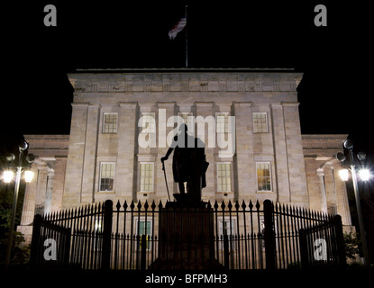 Capitol, Raleigh, NC, North Carolina, at night - Stock Image